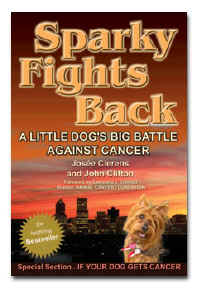 "The award-finalist book ""Sparky Fights Back"""